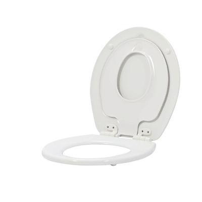 Round Toilet Seat Lid Cover Hinge Potty Training Kids Child Adult Closed Front