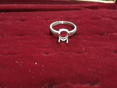 925 Pure Sterling Silver Stone Size 7x9 Oval Semi Mount All Sizes Women Setting