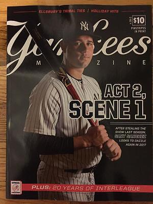 New York Yankees Magazine April 2017 Official Gary Sanchez Ny Nyc Yankee Stadium