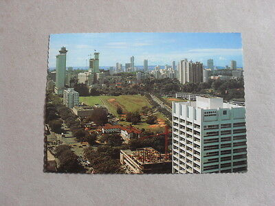 Postcard - Singapore - Aerial View - Hotels - Shopping Centre - Houses - Cars