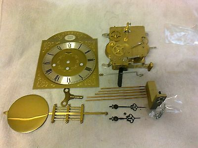 Clock  Parts,  Brass  Movement   Face, Pendulum/hands  ,key, Chime 1