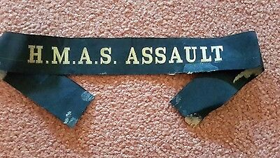 Naval Cap Tallie H.m.a.s Assault