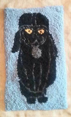 "Rug Hooking Pattern DARTH KITTY on Red Dot Fabric 12.5"" X 20"""