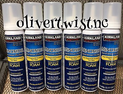 Mens KIRKLAND Compare To Rogaine 5% Topical Foam 6 Month Supply 6 Cans DEC 2020
