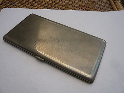 Large Size Vintage Old 1930,s Plated Brass Jacket Cigarette Case Tin