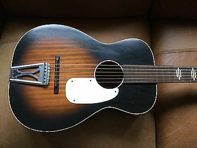 Vintage~Stella By Harmony Acoustic Parlor Guitar~Video!