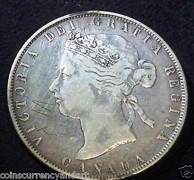 1870 CANADA HALF DOLLAR 50 CENT (With LCW)