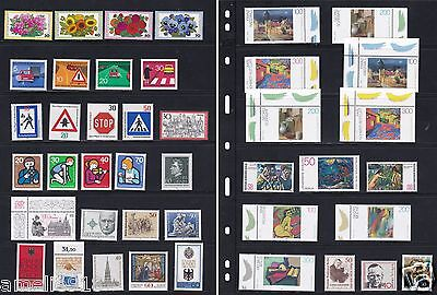 West Gemany stamps mix lot, 2 full sheet. 7 All nice MNH