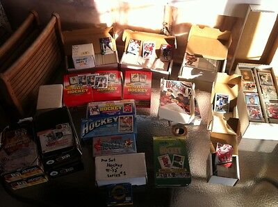 HUGE lot of Hockey and Baseball Cards, Sets, Boxes, Subsets 1990's