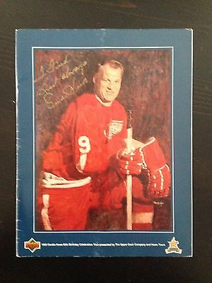 Gordie Howe Signed Autograph 1993 Upper Deck 65th