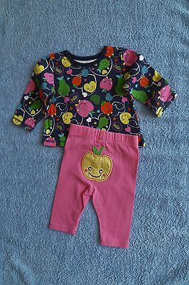 Baby clothes GIRL 0-3m outfit fun fruit long sl. bright top/leggings SEE SHOP!