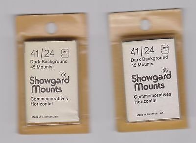 Showgard black stamp mounts 41/24 - 45 mounts x 2 packets