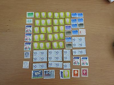 Unfranked dutch stamps