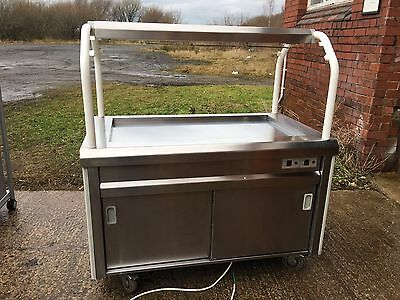 Bartlett Mobile Hot Cupboard / Servery Unit With Heated Gantry