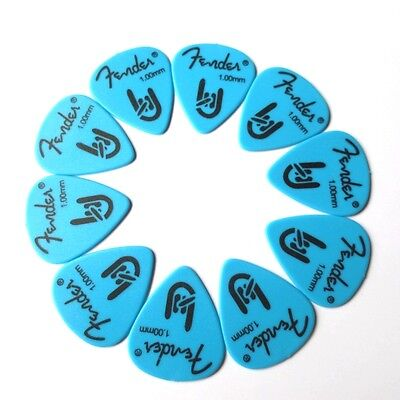 12 Plettri chitarra basso Fender Rock On Blue Heavy 1.00mm Derlin
