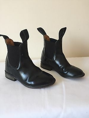 Girls/boys LOVESON Black Leather Jodphur Riding Boots Child Size 10
