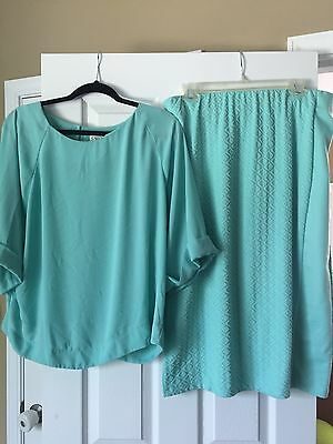 Cato Skirt and Top outfit beautiful Teal sizes 14/16 and 18/20