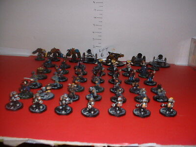 Htf Mage Knight 50 Pce Game Figures Lot # 6 Mortar, Cannon, Living Ballista...
