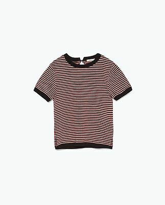 Top maille manches courtes Zara taille M 36
