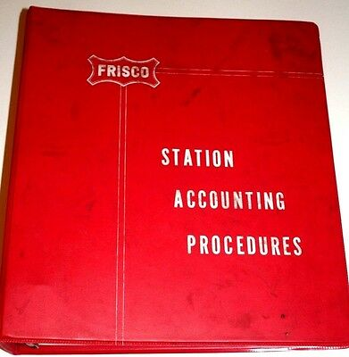 Frisco Railroad SLSF Station Accounting Procedures Railroad Issued Manual