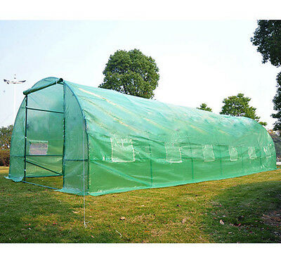 6 Section Polytunnel Galvanised Frame Greenhouse Pollytunnel Poly Tunnel 6m x 3m