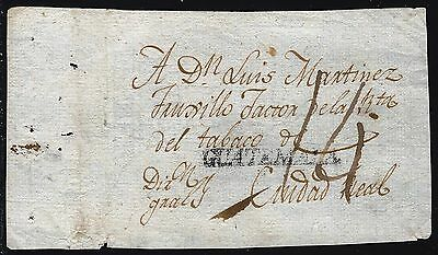 Guatemala 1802 Dated Cover Front To Treasury Director In Cuidad Mexico 2 Scans