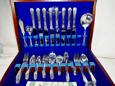 National Silver Co Silverplate Nts16 Pattern 75 Piece Dinner Set