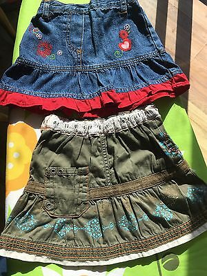 Girl 2x skirts 18-24 months Marks and Spencer Excellent