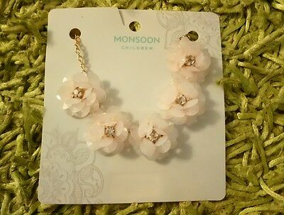 *** Bnwt - Monsoon Accessorize Pretty Pink Girls Necklace Gift Party Wedding ***