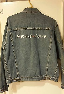 FRIENDS 1st season CREW GIFT JACKET rare TV collectible denim NIKE used size Med
