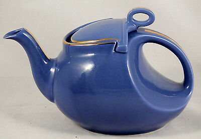 Vintage Hall Steamline U326 Blue Hook Cover Teapot/Coffee Pot Collectible USA