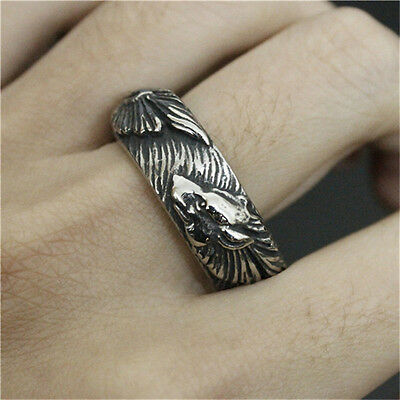 Valknut Odin 's wolf Symbol of Norse Viking Warriors silver ring Punk Gothic