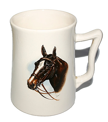 Withernsea Eastgate Pottery Mug With Classic Horse Design Vintage Collectible
