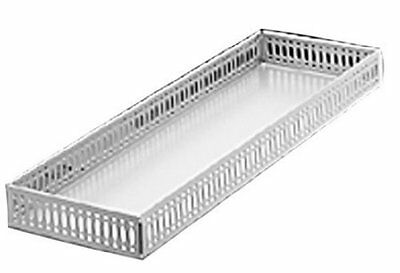 Taymor Chrome Large Vanity Tray Trays Perfume Shaving Collectibles