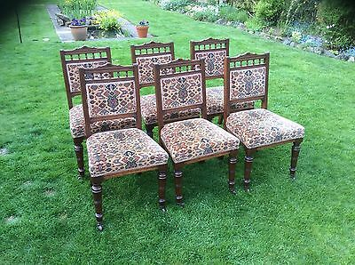 Good Quality Set Of Six Edwardian Chairs  6 Dining Chairs