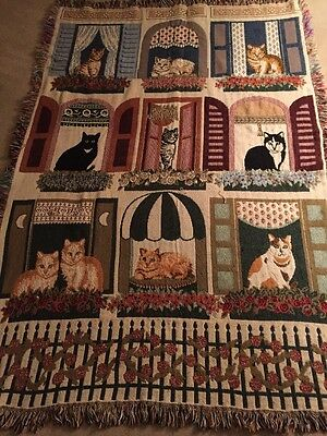 Tapestry Cat Throw/Blanket