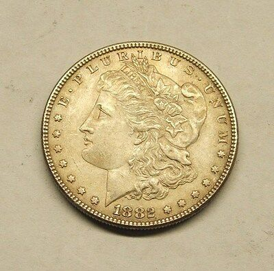 1882P  Morgan Silver Dollar - Lots Of Breast Feathers - Nice Coin #2