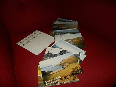 mixed job lot of 35 postcards from Scotland, used and unused.