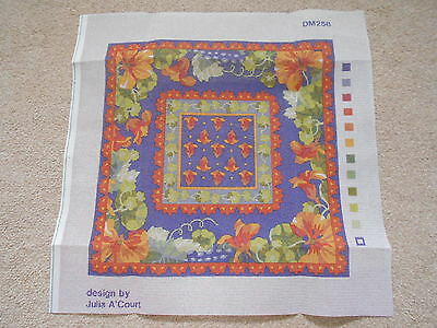 NASTURTIUM BORDER tapestry, needlepoint canvas PRIMAVERA Julia A'Court DM258