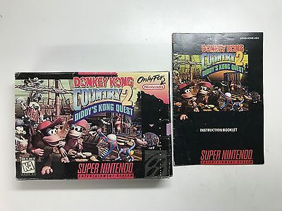 Donkey Kong Country 2: Diddy's Kong Quest (Super Nintendo) ORIGINAL BOX+MANUAL