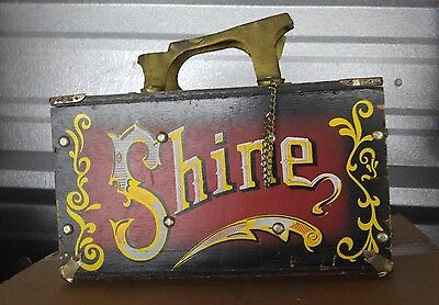 Carnival and circus 1960s shoe shine box nice paint looks cool 5 cent shine