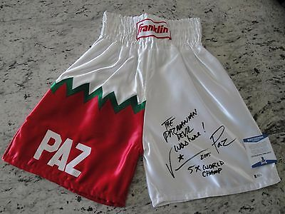 Vinny Pazienza Signed Franklin Boxing Trunks Beckett Authentication!