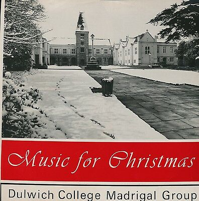 """DULWICH COLLEGE MADRIGAL GROUP """"Music for Christmas"""" (Private Press)"""