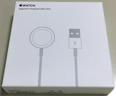 Apple Watch Magnetic Charging Cable GENUINE MJVX2AM/A 2m / 6.6ft White NIB SEALD