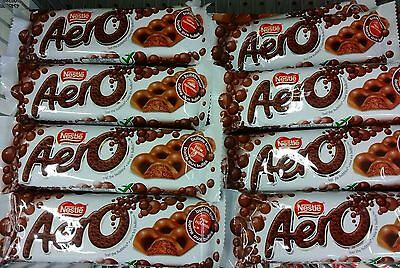 LOT OF 8 FRESH NESTLE AERO CHOCOLATE BARS. 42g. EACH. A CANADIAN ICON.