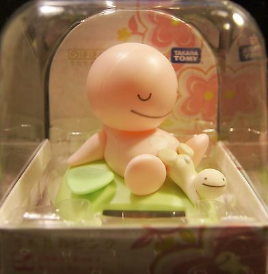 "Japan TOMY Nohohon Zoku 3"" Bobble Head Figure Sunshine Buddies Nap Type Pink"