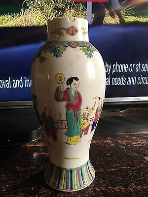 antique chinese republic canton vase