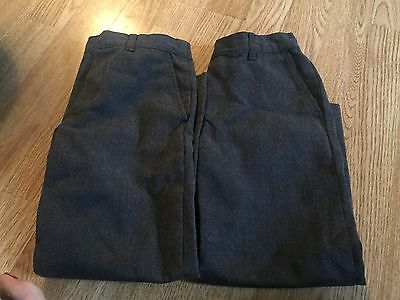 2 Pairs Of Boys School Trousers