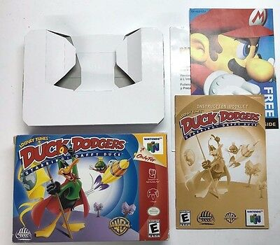 Looney Tunes: Duck Dodgers Starring Daffy Duck (Nintendo 64) ORIGINAL BOX+MANUAL