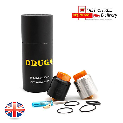 Druga RDA 24MM Styled BLACK/STAINLESS/BRASS/RAINBOW With SQUONK PIN UK STOCK
